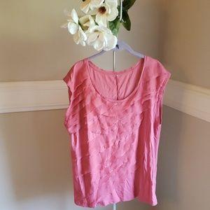 Tops - Pink ruffled top